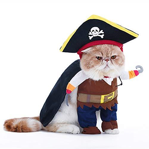 Freund Besten Kostüm Lustige - XinC Katze Kostüme für Haustiere Halloween Pet Dress Up Piratenbekleidung Haustierkleidung Hund Stereo Change Dress Lustige Kostüme Lustige interessante Kostüme,XL