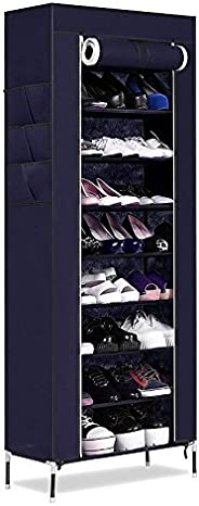 PAffy 9 Layer Portable Multi Utility Shoe Rack Organizer - Random Color