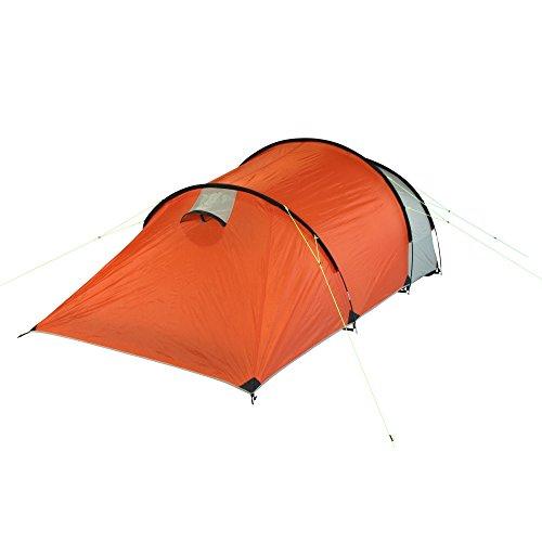 10T Mandiga 3 Orange - Tunnelzelt für 3 Personen, Campingzelt mit großer Schlafkabine, wasserdichtes Familienzelt mit 5000mm, Zelt mit 2 Eingängen und 2 Fenstern, Festivalzelt mit Dauerbelüftung, 3 Mann Zelt mit Tragetasche, Zeltheringe und Zeltgestänge - 13