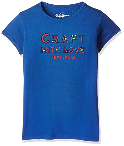 Pepe Jeans Girls' T-Shirt (JOCELYN K SS_Royal Blue_8)  available at amazon for Rs.249