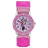 Minnie Mouse Meisjes Analoog Klassiek Quartz Horloge met Textiel Band MN5106