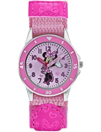 Minnie Mouse Girls Analogue Classic Quartz Watch with Textile Strap MN5106