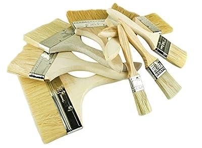 16 tlg. Profi Malerpinsel Set Pinsel Holzgriff Flachpinsel Pinselset Pinselsatz von BAYLI - TapetenShop