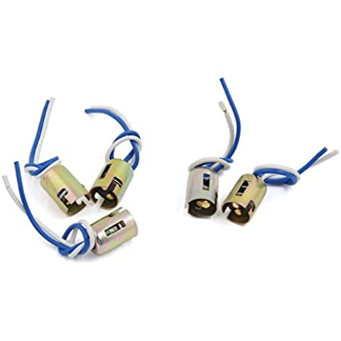Sourcingmap-5pcs 11571016Bombilla Socket freno Gire luz de señal Lámpara LED de alambre arnés Plug