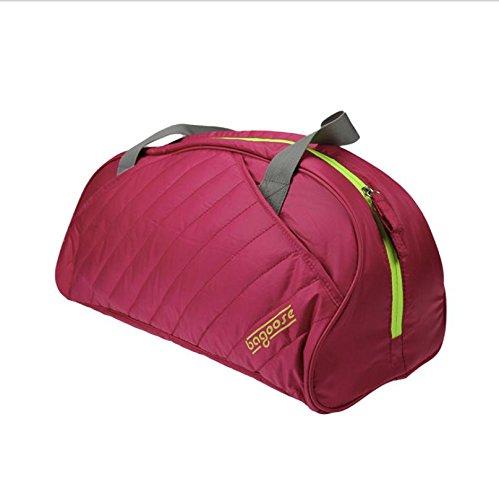 Xiuxiandianju 20-35L sport fitness yoga borse uomini e donne ad alta capacità borsa viaggio borsa da viaggio , rose red rose red