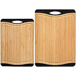 ProCook - Set de Planches à découper antidérapantes en Bambou 2 pièces