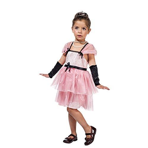 Hollywood Star Kostüm Kinder Filmstar Kleid mit Stulpen pink - 3 Jahre