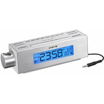Sony ICF-C717PJS.CEF Radio-réveil multifonction avec projecteur Argent