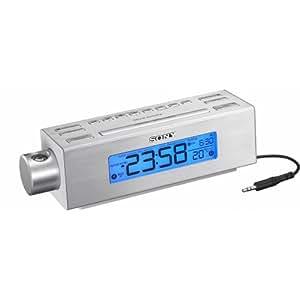 Sony ICFC717PJ Uhrenradio mit Projektor (UKW/MW-Tuner) silber
