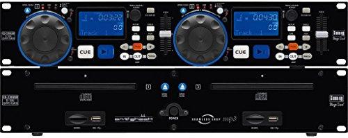 IMG Stageline CD-230USB  DJ-Dual-CD- und MP3-Spieler mit USB2.0-Schnittstelle und SD/MMC-Card-Slot, schwarz