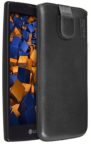 mumbi ECHT Ledertasche LG Magna / G4C Tasche Leder Etui (Lasche mit Rückzugfunktion Ausziehhilfe)