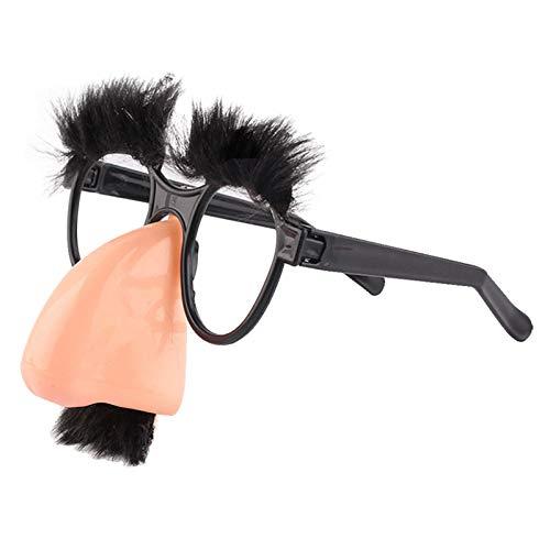 Macxy - 1pcs Halloween-Schnurrbart-Fälschungs-Nasen-Augenbrauen-Clown lustige Kostüm Props Party Brille Große Nasen-Bart-Glas-Partei Zubehör [2pc] (Halloween-kostüm Uk Lustig)