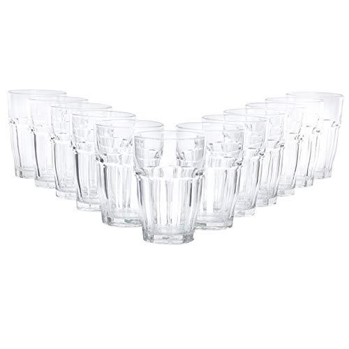 Bormioli Cocktailglas Set \'Rock Bar\' 12 teilig | Füllmenge 480 ml | Gesamthöhe 13 cm | Perfektes Universalglas für den täglichen Gebrauch