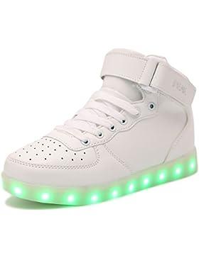 PEAK Sportschuhe Kinder USB Aufladen 7 Lichtfarbe LED Leuchtend Sport Schuhe Sneaker