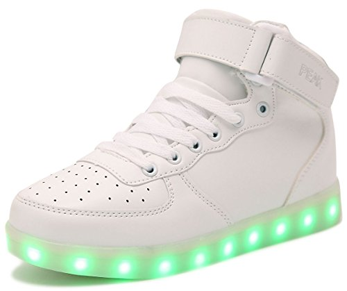 PEAK Originals-7 Colore USB Carica LED Lampeggiante Luminosi Sneaker Scarpe Donna Uomo Bambini Sportivet High Top
