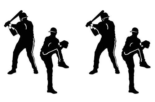 Baseball Whirls Silhouetten-Ausschnitte 30.5