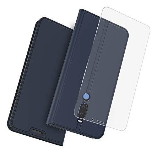 Forhouse Meizu Meilan V8 Pro Hülle, Ledertasche PU Leder Schutzhülle Flip Magnet Brieftasche Kartenfach Ultra Schlanke stoßfest Schutzhülle für Meizu Meilan V8 Pro