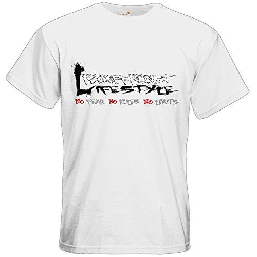 getshirts - Kampfkunst Lifestyle Shop - T-Shirt - Kampfkunst Lifestyle - Logo 1 White