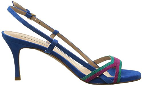 Pura Lopez Ah256, Sandales Femme Multicolore (Ante Turquesa Multi)