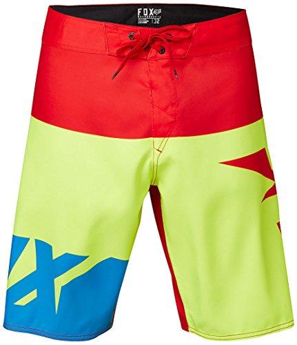 FOX Shiv Boardshort 38 Rot/Gelb (Kordelzug Walking Shorts)