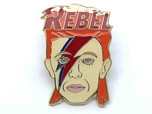David Button (Patch Nation David Bowie Rebel Ziggy Metall-Pin Badge)