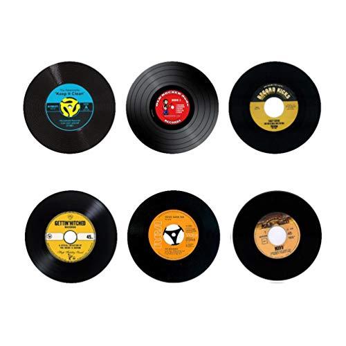 Home Tisch Tasse Matte Creative Decor Kaffee Spinning Retro Vinyl Schallplatten Untersetzer 9x9CM Retro Vinyl Record 1 ()