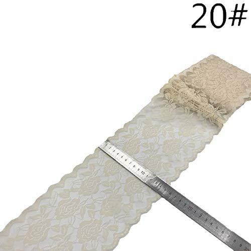 Tian Ran Dai Cinta de encaje Adorno de encaje floral Encaje elástico para manualidades Rústico Decoraciones de la boda CoCOe de pelo Fabricación y envoltura de regalos (3.9 pulgadas 1 yardas)