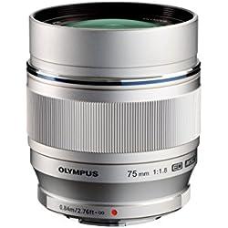 Olympus Objectif M.ZUIKO Digital ED 75 mm 1:1.8 pour Appareil Hybride Micro 4/3