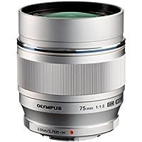 Olympus M.Zuiko Digital ED - Objetivo para retratos (apertura amplia y luminosa de 1:1.8) Plata, 75mm