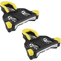 BV - Calas de bicicleta BV compatibles con Shimano SPD-SL - Juego de calas de ciclismo en carretera, diseño de patente dividida (6 grados)