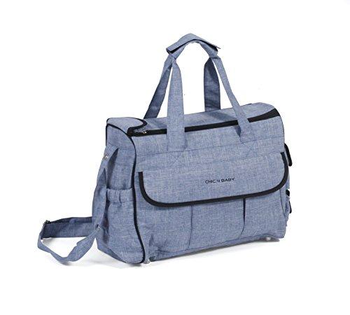 CHIC 4 BABY 405 55 Wickeltasche Luxury, Jeans hellblau/blau