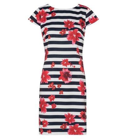zero Damen Kleid mit Streifen 313924 blue black 38