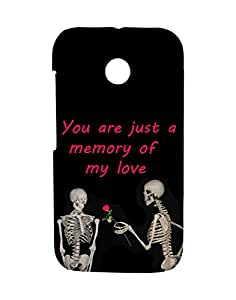 Mobifry Back case cover for Motorola Moto E XT1021 Mobile ( Printed design)