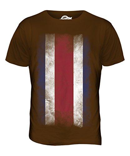 CandyMix Costa Rica Verblichen Flagge Herren T Shirt Braun