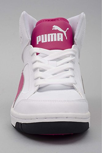 Puma Rebound V2 Hi Jr, Schuh Kinder white-purple