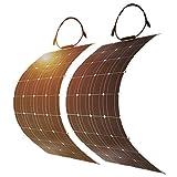 DOKIO 2PC Solar Panel 100W Mono Faltbar für 12V Batterie wasserdicht Caravan Wohnmobil RV Shed Vans Garage Dach Yacht Boot Jede Flache Oberfläche