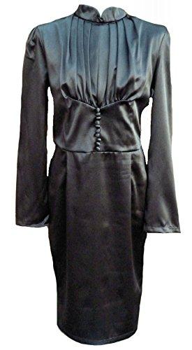 Lindy Bop Damen Etui Kleid Schwarz Schwarz, Schwarz, 12 (Lindy Bop Vintage Kleider Schwarz)