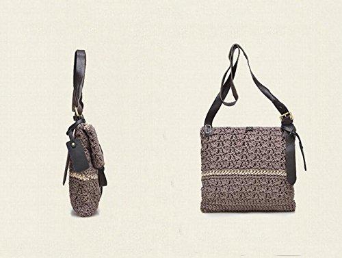 DJB/ Japanische und koreanische handgewebte Handtasche meters white