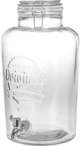 XXL Glas Getränke Spender 8L - Bügelverschluss - Wasserspender Saftspender Dispenser