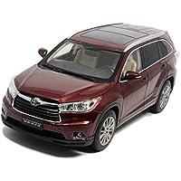 DUWEN Modelo de automóvil Toyota Highlander Vehículo Todo Terreno Modelo 1:18 Aleación de emulación