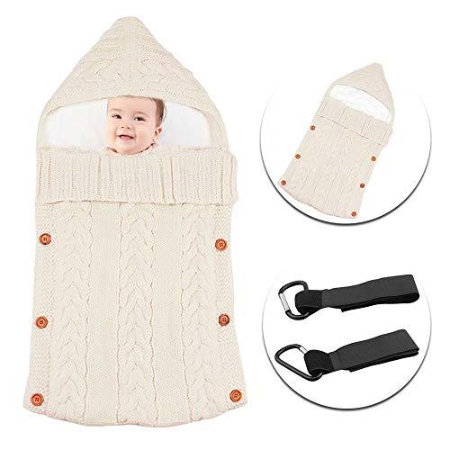 MiniGreen Babyschlafsack Baby Kleinkinder Unisex Schaltfläche Schlafsack Gestrickte Kapuze Swaddle...