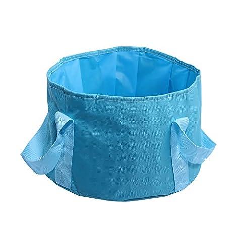 pliable Seau 15L durable Leaf-proof Lavabo Réservoir à eau Voyage de camping pliable Lavabo avec étui de transport pour pattes sales, bleu