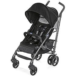 Chicco Liteway 3 - Silla de paseo ligera y compacta, soporta hasta 22kg, color negro (Jet Black)