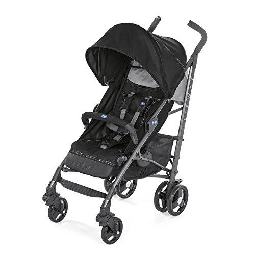 Chicco Liteway 3 Silla de paseo ligera y compacta, soporta hasta 22kg, color negro