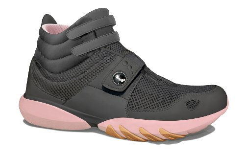 Glagla  Classic HI, Hi-Top Slippers femme Gris - Grau (Charcoal/pastel pink)