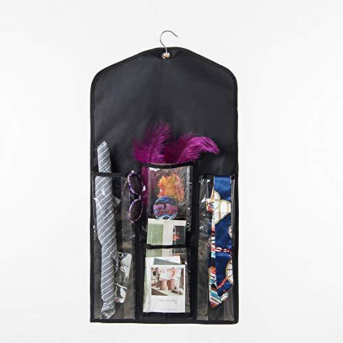 Vielseitig einsetzbare doppelseitige hängende Geschenkverpackung, platzsparende Geschenkverpackung, Aufbewahrungstasche, Hängetasche, Geschenk-Caddy mit 6 großen Fächern, 81,3 x 42,9 cm (L x B)