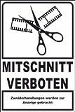 Fotografieren verboten Schild -206- Mitschnitt verboten 29,5cm * 20cm * 2mm, ohne Befestigung