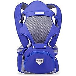 YX Porta Bebé Mochilas PortabebéS MultiposicióN de Malla Multifuncional Taburete de Cintura,Purple