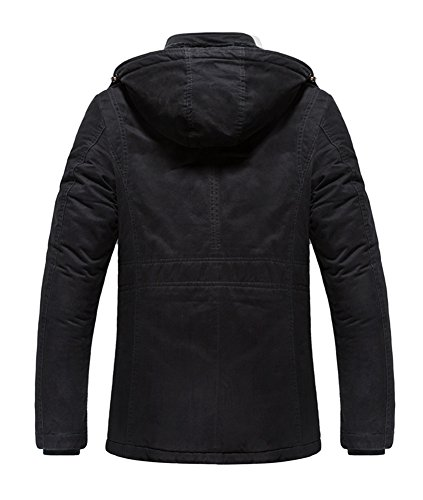 Winter Fleecejacke Herren Long Winterjacken With Hood Steppjacke schwarze Marken 879 - 2