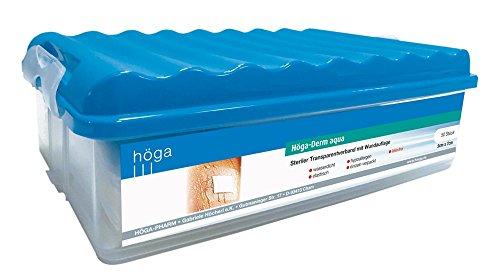 duschpflaster apotheke Höga-Derm aqua steriler Transparentverband mit Wundauflage, 50 Stück,  7 cm x 5 cm, 1er Pack (1 x 50 Stück)